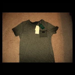 Oil Washed Tee - Olive